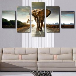 $enCountryForm.capitalKeyWord UK - 5p Giant Elephant Painting Oil Canvas Print Unframed Wall Art Picture Home Living Room Wall Decor Modern Canvas Artwork