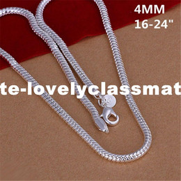 $enCountryForm.capitalKeyWord NZ - New Listing Hot selling men's silver plated 4MM Snake Bone Chain Necklace Fashion trends Jewelry Gifts