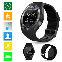 $enCountryForm.capitalKeyWord Australia - Bluetooth Smart Watch Y1 Round Screen Smartwatch with SIM Card slot support Facebook SMS Reminder For IOS Android Samsung