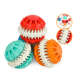 $enCountryForm.capitalKeyWord Canada - Cute Durable Pets Dog Dental Teeth Ball Toys Funny Puzzle For Pet Dogs Puppy Chew Training Toys Pets Food Container Balls