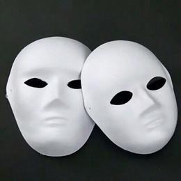 Face Masks For Painting NZ - Paper Pulp Plain White Full Face Masks For Men Women Unpainted Blank DIY Fine Art Painting Masquerade Masks Net weight 40g 50pcs lot