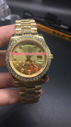 $enCountryForm.capitalKeyWord Canada - BIg diamonds case gold luxury watches for men big stones bezel day sweep automatic date gold face watch high quality brand wristwatch