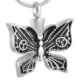 Wholesale IJD8599 Monarch Butterfly L Stainless Steel Cremation Jewelry For Ashes Urn Necklace Memorial Keepsake