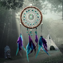 $enCountryForm.capitalKeyWord Australia - 2017 Fashion Hot Decoration Crafts Dreamcatcher Wind Chimes Handmade Dream Catcher With Feathers Wall Hanging attrape reve
