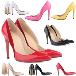 75555da42ae Chaussure Femme Womens Sexy Pointed Toe Patent Pu Leather High Heels Corset Style  Work Pumps Court Shoes Women US Size 4-11 D0064