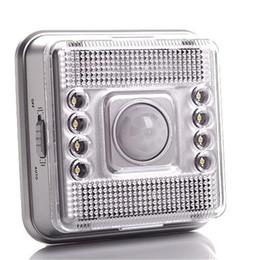 8 LED Licht Lampe PIR Auto Sensor Bewegung Wandleuchte führte Nachtlicht Hohe helle Empfindlichkeit Korridor Cabinet Light