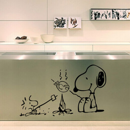 $enCountryForm.capitalKeyWord NZ - 9380 Dog at the barbecue Removable Vinyl kitchen decor Wall Stickers Home Decor Bakery cafe shop wall decals wall art sticker