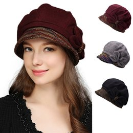 6e148192dc4aa Butterfly Trim Womens Winter Hat Crushable Cloche Bucket Visor Wool Blend  Church Dress Party Cap T297