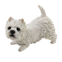 $enCountryForm.capitalKeyWord UK - Cute West Highland White Terrier 4.7 inches Figure Resin Puppy Statue Art Crats Collection Gift for Dog Lover