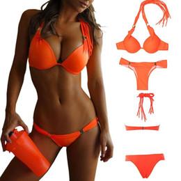Push Up Bikini Top Swimwear Canada - 2016 Hot Push Up Bikini Brazilian Top Bathing Suits Swimsuit Women Swimwear Sexy Bandeau Bikini Set Push up Sexy Bikinis Women