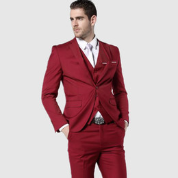 Formal Fashion Clothes For Men Canada - Men Suits New Fashion Clothing Latest Coat Pant Designs Three Piece Suit formal Slim Fit Suits Red Wedding Suits for Men