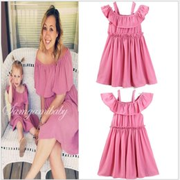 $enCountryForm.capitalKeyWord NZ - 2019 Hot Sale Mother and Daughter Family Matching Dress Fashion Girls Summer Ruffle Sleeveless Dresses Baby Girl Skirts Mother and Daughter