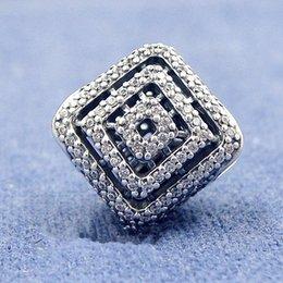 Großhandel 2017 neue Herbst Geometrische Linien Charms 925 sterling silber schmuck fit charme perlen armbänder halskette DIY für frauen BE484