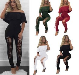 Wholesale black white womens romper resale online – Womens Sexy Casual Clubwear Bodycon Off the Shoulder Tight Bodysuit Playsuit Jumpsuit Romper Clubwear