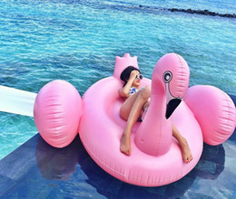 kids inflatables for pools UK - 150cm Leisure Giant Swan Pool Flamingo Float New Swan Inflatable Floats Swimming Ring Raft swimming pool toys For Kids And Adult