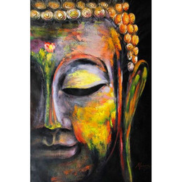 Buddhas Decor Canada - Buddha Oil Painting 100% Full Drill DIY Diamond Painting Embroidery 5D Cross Stitch Crystal Home Bedroom Wall Decoration Decor Craft Gift