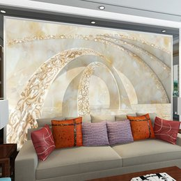 abstract vintage wallpaper Canada - Custom Large Murals 3d Stereoscopic Abstract Painting Wallpaper for Living Room Bedroom TV Sofa Background Hotel Lobby wallmural