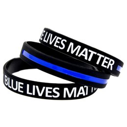 Chinese  100PCS Lot Blue Lives Matter Silicone Wristband It is Soft And Flexible Great For Normal Day To Day Wear manufacturers