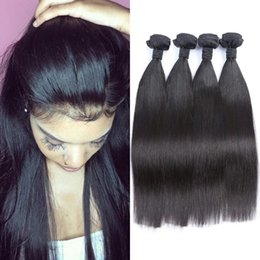 Dhl hair peruvian straight online shopping - Silky Straight Cambodian Virgin Hair Wefts Bundles Unprocessed Human Hair Double Weft DHL Free FDSHINE