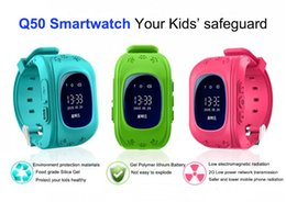 Gsm Gprs Gps Australia - Free Shipping Smart watch Children Kid Wristwatch Q50 GSM GPRS GPS Locator Tracker Anti-Lost OLED screen Smartwatch Child Guard iOS Android