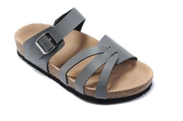 silver heeled flip flops UK - Free Shipping!!! Fashion Lovers Casual Sandals Fashion cork slippers Summer Men and women beach slippers flip slip-resistant size: 35-46