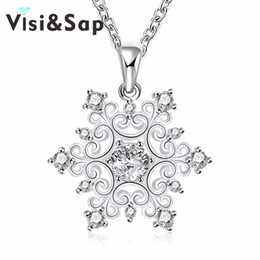 Flower Gift For Love Australia - Visisap Flower Necklaces for Women Classic cubic zirconia Pendant jewelry Charm Fancy Anniversary gifts necklace VLKN771
