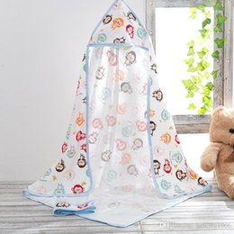 $enCountryForm.capitalKeyWord Canada - Newborn Quilt Infant Blanket Wrap Thin Coated Pure Cotton Scarf Baby Coverlet With A Hat Soft Touch Floral Towel 12hs F R