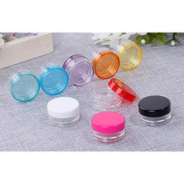screw box set Canada - 20 Pcs Set Plastic Cosmetic Empty Jar Pot Box Nail Art Cosmetic Bead Storage Container Round Bottle 5g Transparent Makeup Tools
