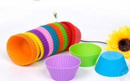 Горячая распродажа! Круглой формы силиконовые маффин кекс плесень чехол для выпечки чайник плесень лоток чашки выпечки лайнер формы для выпечки