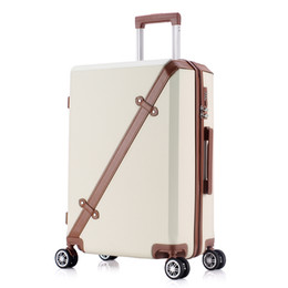 24 inch bag Canada - 20 24 Inch Rolling Luggage Business Travel sports 4 Wheels Suitcases Bag Waterproof High Quality Retro Trolley Case Large capacity