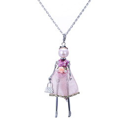 $enCountryForm.capitalKeyWord UK - New Dance France Doll necklace Fashion doll Pendant Jewelry women long necklace lovely dress pendant free shipping