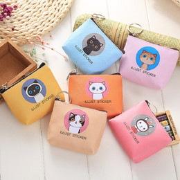 $enCountryForm.capitalKeyWord Australia - cat coins bags cute small gift coin purse for coins earphone SD TF card charging cables storage blue pink orange yellow 6 colors cheap price