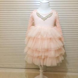 $enCountryForm.capitalKeyWord Australia - Kids Girls Lace Dresses Baby Girl Floral Print Dress Boutique 2017 Infant Princess Tulle Vest Tutu Dress for Party Children Clothing B438