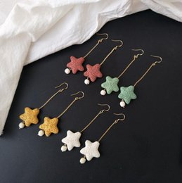 Shop coloured chandeliers uk coloured chandeliers free delivery to 2018 new natural coloured lava rock dangle chandelier earrings tassel star pendant earrings 925 logo ear hook free shipping mozeypictures Choice Image