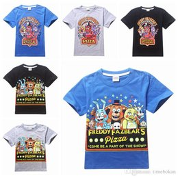 Kids S T Shirts En Gros Pas Cher-Five Nights chez Freddy's Summer Cotton T-shirts à manches courtes Vêtements pour enfants Bébés garçons Garçons Tops Enfants T-shirts Vêtements en gros