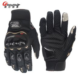 Racing glove motoR online shopping - Riding Tribe Men s Touch Screen Gloves Motorcycle Full Finger Gloves Breathable Motor Motocross Protective Gear Racing Gloves