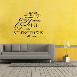 For Christian Wall Decal Sticker Diy Home Decor Vinyl Art Removable Stickers Mural Bedroom Sitting Room Diy  sc 1 st  DHgate.com & Christian Wall Art Decals NZ | Buy New Christian Wall Art Decals ...