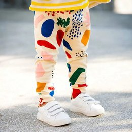 Pantalon De Plage Garçon Pas Cher-2017 été automne sarouel pantalons bébés garçons pantalons bambin coton graffiti pantalons filles occasionnels plage courte pantalon bébé leggings collants 2