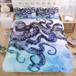 Discount california king beds - Wholesale- octopus Le poulpe 3D Bedding Set 3d Print Duvet cover set Twin queen king Beautiful pattern Real effect lifel