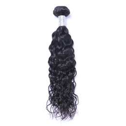 Chinese  Brazilian Virgin Human Hair Natural Wave Water Wave Unprocessed Remy Hair Weaves Double Wefts 100g Bundle 1bundle lot Can be Dyed Bleached manufacturers