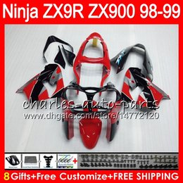 Zx9r fairing red online shopping - 8Gifts Colors For KAWASAKI NINJA ZX R ZX9R CC HM11 Factory red ZX R ZX900 ZX900C ZX R Fairing kit