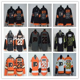 wholesale mens philadelphia flyers 28 claude giroux jersey 2012 winter classic orange white stitched