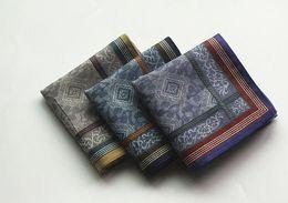 $enCountryForm.capitalKeyWord Australia - Jacquard Wholesale 6 Pcs 43 *43cm Cotton Handkerchief Men Pocket Square Hankies Mens Business Casual Square Pockets Hanky