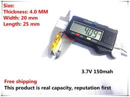 Battery Gps Polymer Australia - Hot selling 402025 042025 3.7V 150mah MP3 MP4 battery polymer battery GPS battery