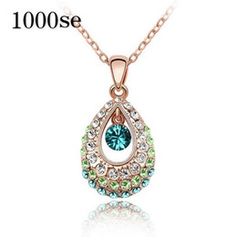 korea necklaces Australia - Export import accessories wholesale Austria Crystal Necklace - PRINCESS NECKLACE PENDANT Korea female Tianzhu
