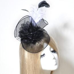 $enCountryForm.capitalKeyWord NZ - Netting Mesh Feathers Bridal Fascinator Hairpins Bride Birdcage Headwear Wedding Hair Clip Accessories Wine red black 2 colors for choose