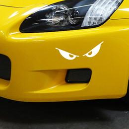 Ingrosso 2017 vendita calda grafica Cool Casco moto riflettente Car Styling Decalcomania del vinile Sticker Evil Eyes Accessori auto Decor