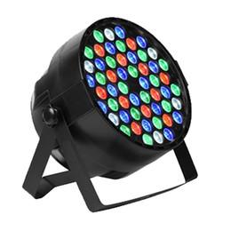 Venta al por mayor de 54X3W LED DJ PAR luz RGBW 162Watt DMX 512 Etapa de iluminación Disco proyector para Home Wedding Party Iglesia Concierto Dance Floor Lighting