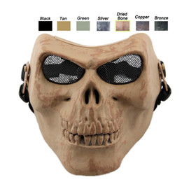 Skeleton Tactical Mask Canada - Outdoor Face Protection Gear Airsoft Shooting Cosplay Equipment Half Face Tactical Airsoft Skull Mask Skeleton Mask