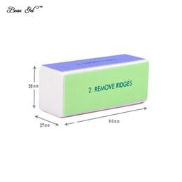 $enCountryForm.capitalKeyWord NZ - Wholesale- Beau Gel 1pcs 4 Way Sponge Buffer Block Nail File Buffer Polishing Block Sanding Nail Art Manicure Sponge Tools